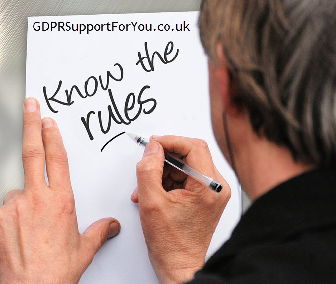 know the rules GDPR and DPA 2018 - GDPR Support For You .